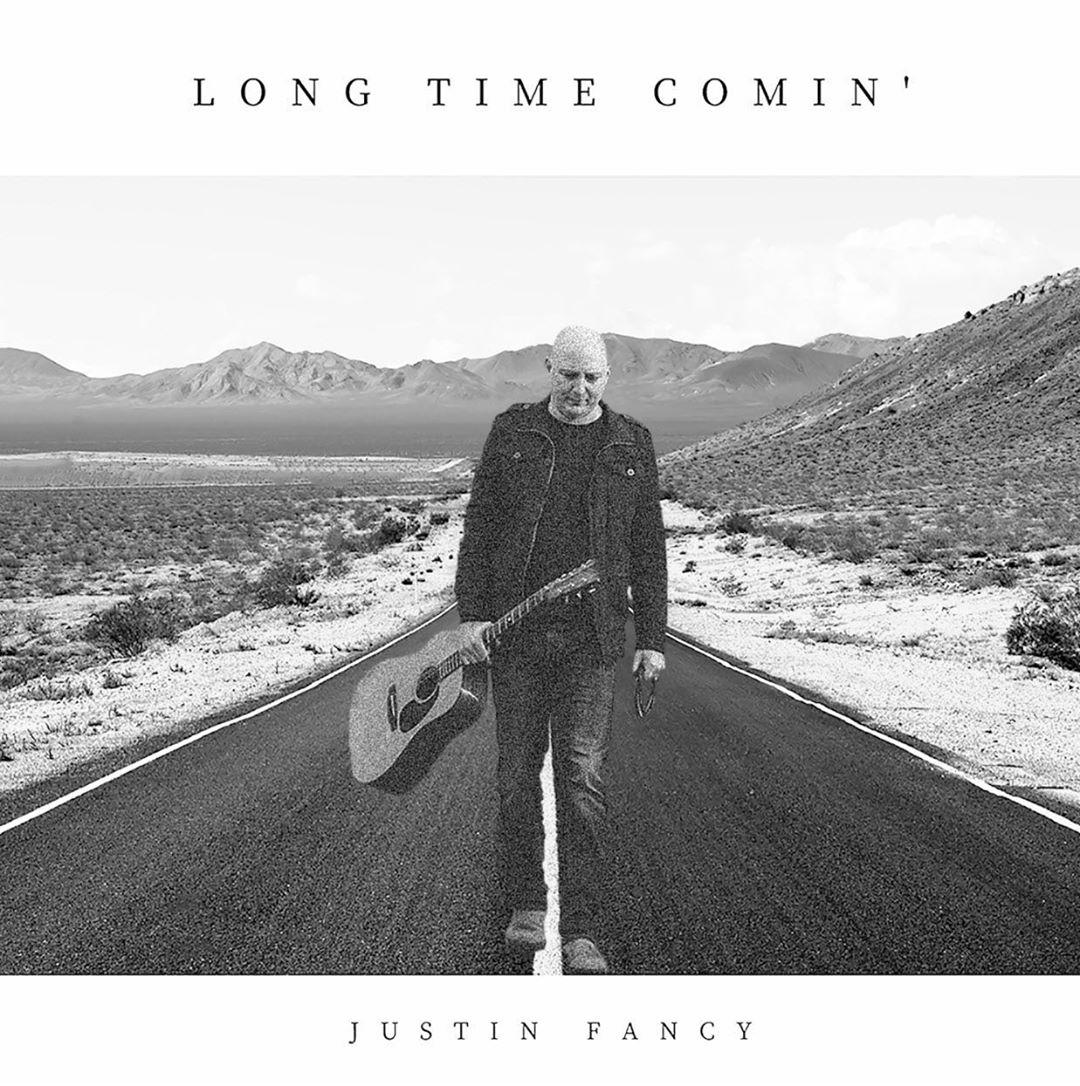 Justin Fancy, Canadian country singer-songwriter single cover - Long Time Comin'